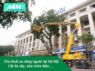 Cho thuê xe nâng người tại Hà Nội – cắt tỉa cây, sửa chữa điện,..