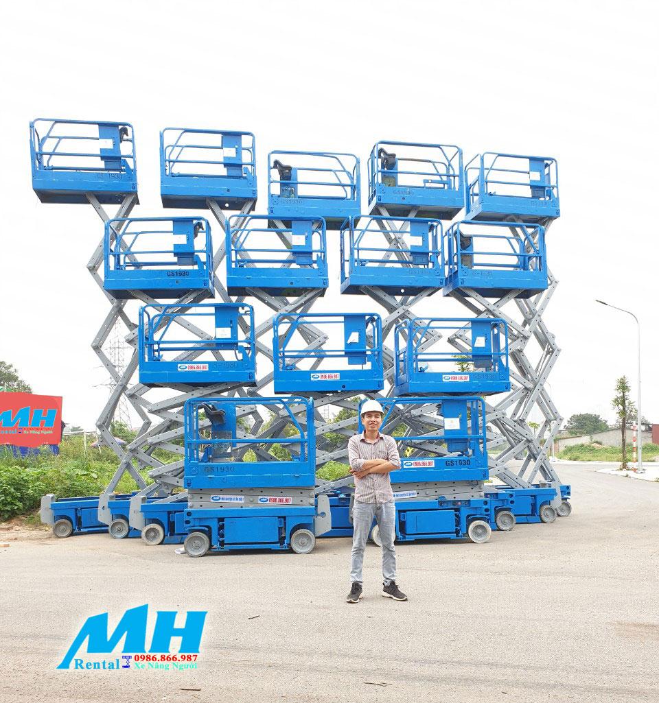 MH Rental là nhà phân phối xe nâng người chính hãng